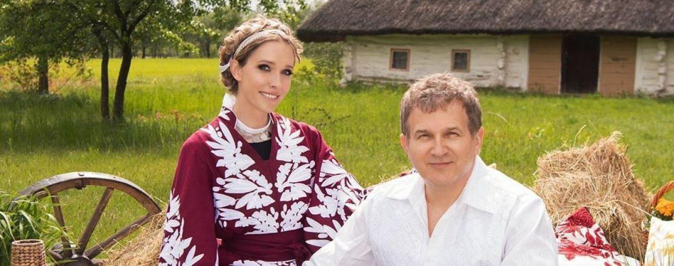 Розкішна Катерина Осадча у сукні-вишиванці за ручку з Горбуновим замилувала фанів