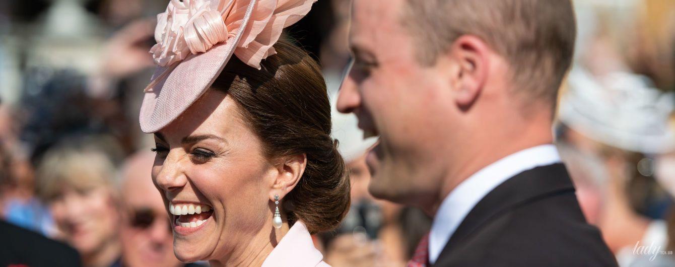 Как зефирка: герцогиня Кембриджская в нежно-розовом пальто на садовой вечеринке
