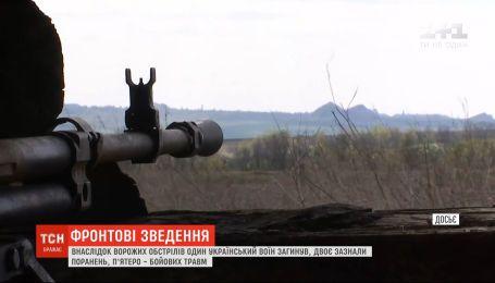 Фронтові зведення: один український військовий загинув внаслідок ворожих обстрілів