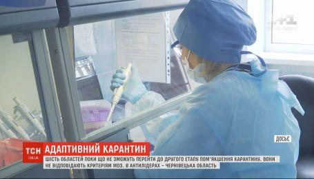 Шість областей України поки не зможуть перейти до другого етапу пом'якшення карантину