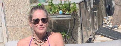 62-летняя Шэрон Стоун в бикини восхитила юзеров стройностью