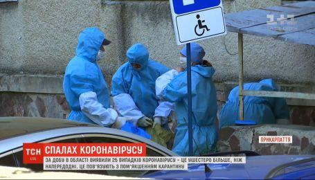 За сутки на Прикарпатье обнаружили в шесть раз больше больных коронавирусом, чем накануне