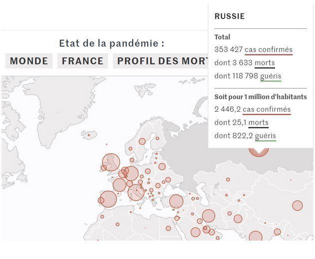 карка світу від французького видання Le Monde