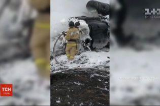 В России во время выполнения тренировочного полета разбился второй за неделю военный вертолет