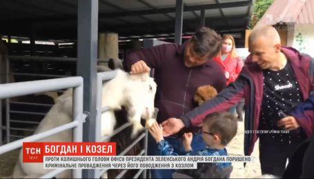 Против Богдана инициировали уголовное производство, потому что он таскал козла за уши в зоопарке