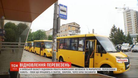 У Київській області відновили роботу автобусів та міжміських маршруток