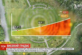 До 2050 року близько 80% мегаполісів на планеті матимуть інший клімат