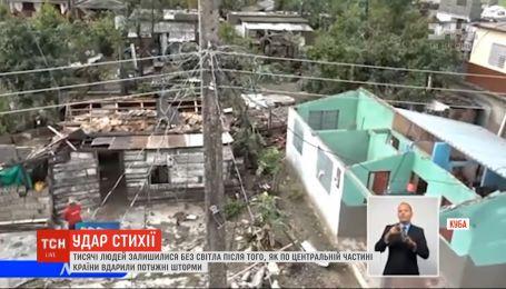 Торнадо и молнии оставили без света тысячи людей на Кубе