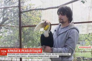 Орнітолог зорганізував центр реабілітації для птахів, що постраждали через людську жорстокість
