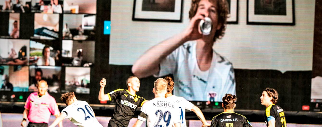 Футбольное ноу-хау: в Дании фанаты посмотрели матч с виртуальной трибуны через Zoom