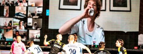 Футбольне ноу-хау: в Данії фанати подивилися матч з віртуальної трибуни через Zoom