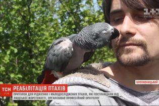 Орнітолог з Кропивницького організував центр реабілітації для птахів, яких скривдили господарі