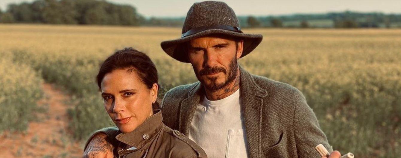 На прогулке в поле: Дэвид Бекхэм показал, как провел выходные с женой Викторией