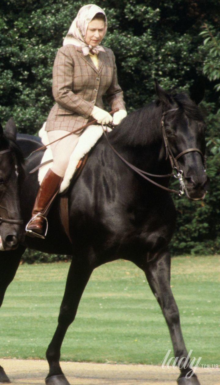 Королева Елизавета II и Рональд Рейган