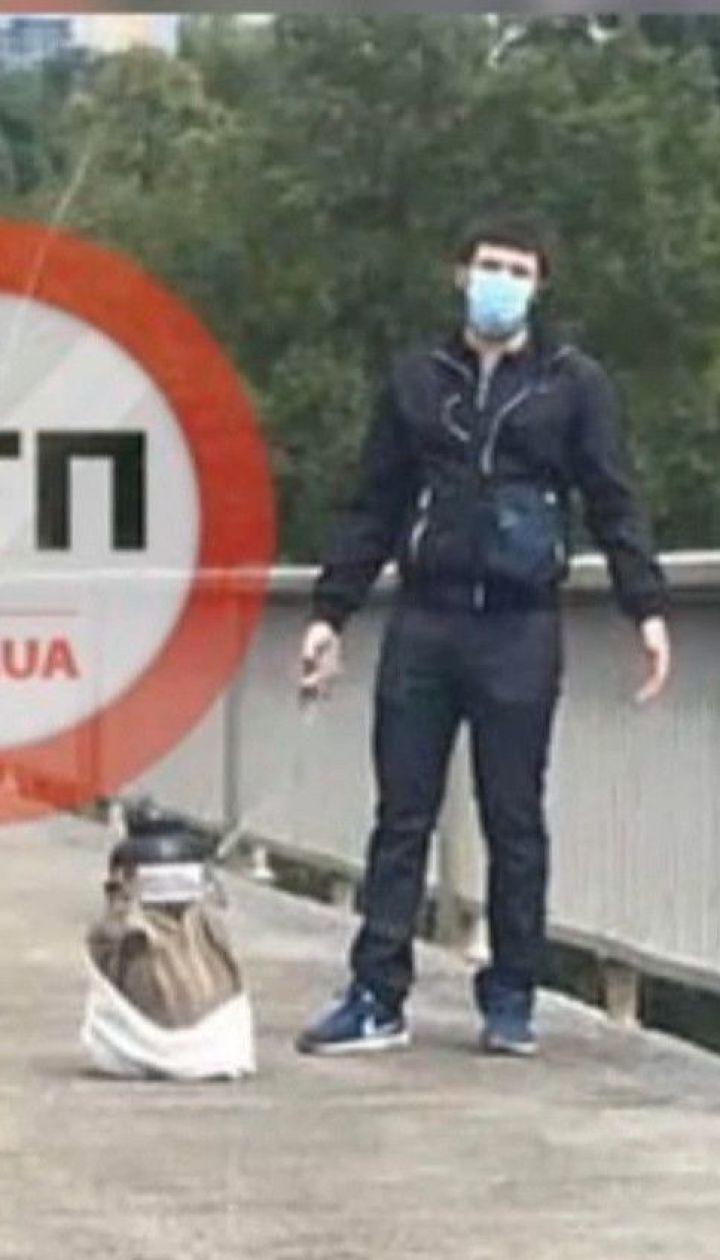 Столичная спецоперация: злоумышленника, который угрожал взорвать мост Метро в Киеве, задержали