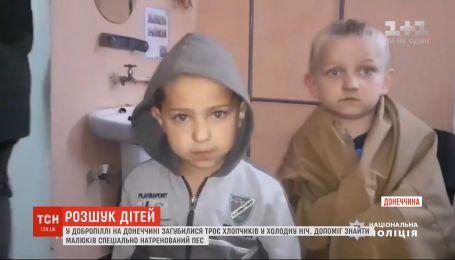 На Донбасі кількасот людей 8 годин шукали трьох зниклих дітей