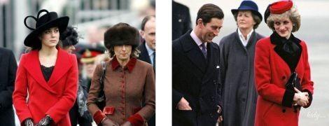 Битва красных пальто: Кейт Миддлтон vs принцесса Диана