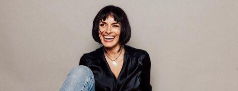 В сорочці і вузьких джинсах: Надя Мейхер похизувалася стильним луком