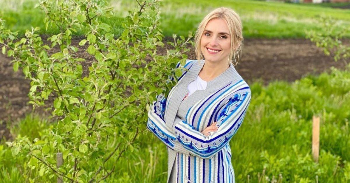 Ирина Федишин показала папу в его молодом саду