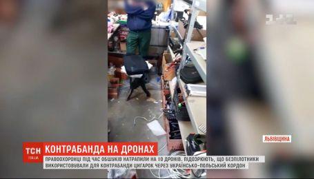 Силовики в Львовской области обнаружили 10 беспилотников, которые использовали для контрабанды
