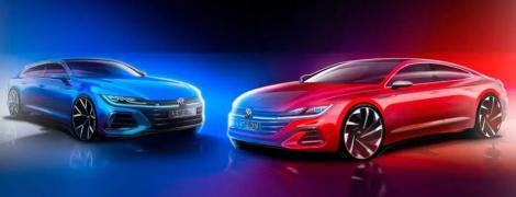 Volkswagen офіційно розсекретив на тизері універсал та седан Arteon