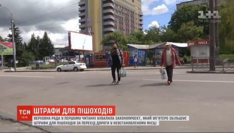 Депутаты хотят в пять раз увеличить штрафы для пешеходов