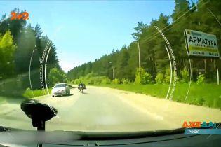 В России выпивший мужчина сел за мотоцикл и попал в аварию