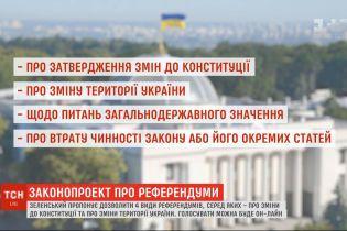 Владимир Зеленский предлагает ввести четыре вида национальных референдумов