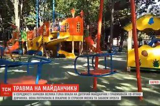 В центре Харькова огромная ветка отломилась от дерева и травмировала 10-летнюю девочку