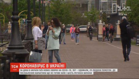 К ослаблению карантина до сих пор не готовы Киев и шесть регионов Украины
