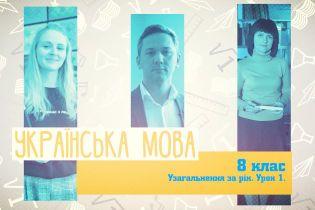 8 класс. Украинский язык. Обобщение загод. Урок 1. 10 неделя, чт