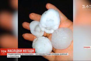 У Рівненській області випав град розміром з куряче яйце, а на Волині пронісся буревій