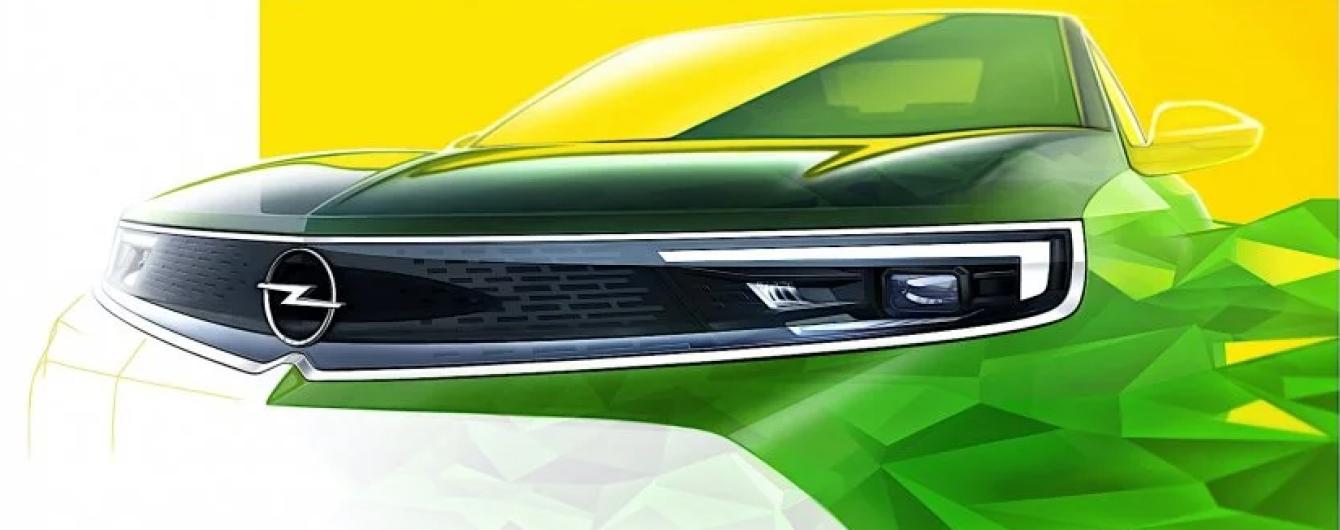 Opel показал на тизере дизайн нового кроссовера
