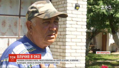 У  Житомирській області чоловік стріляв у кота, якого побачив на своїй огорожі, а влучив у сусідку