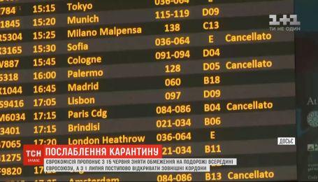 Від 15 червня Єврокомісія пропонує зняти всі обмеження на подорожі всередині ЄС