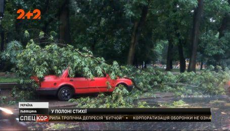 У Львівській області раптовий буревій знеструмив майже дві сотні населених пунктів