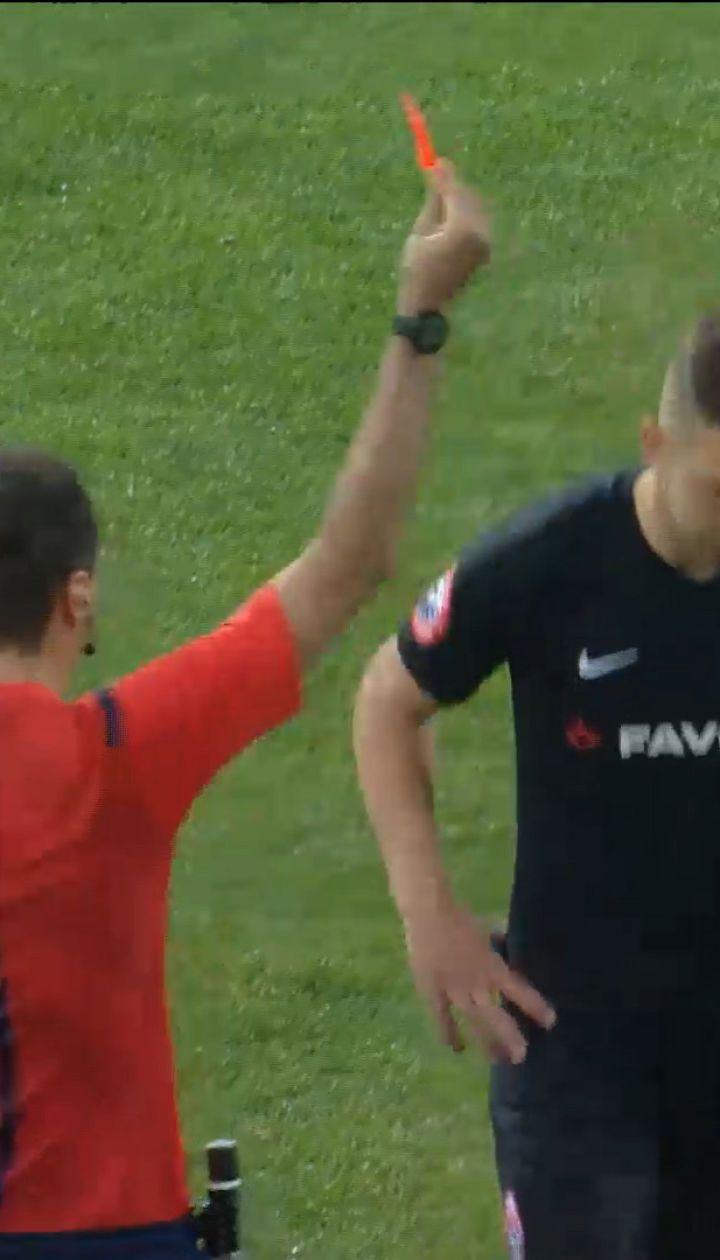 Заря - Динамо - 1:2 - просмотр VAR: Цвек получил красную карточку за фол на Сидорчуку