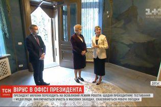 Зеленский переходит на особый режим работы из-за заболевания жены