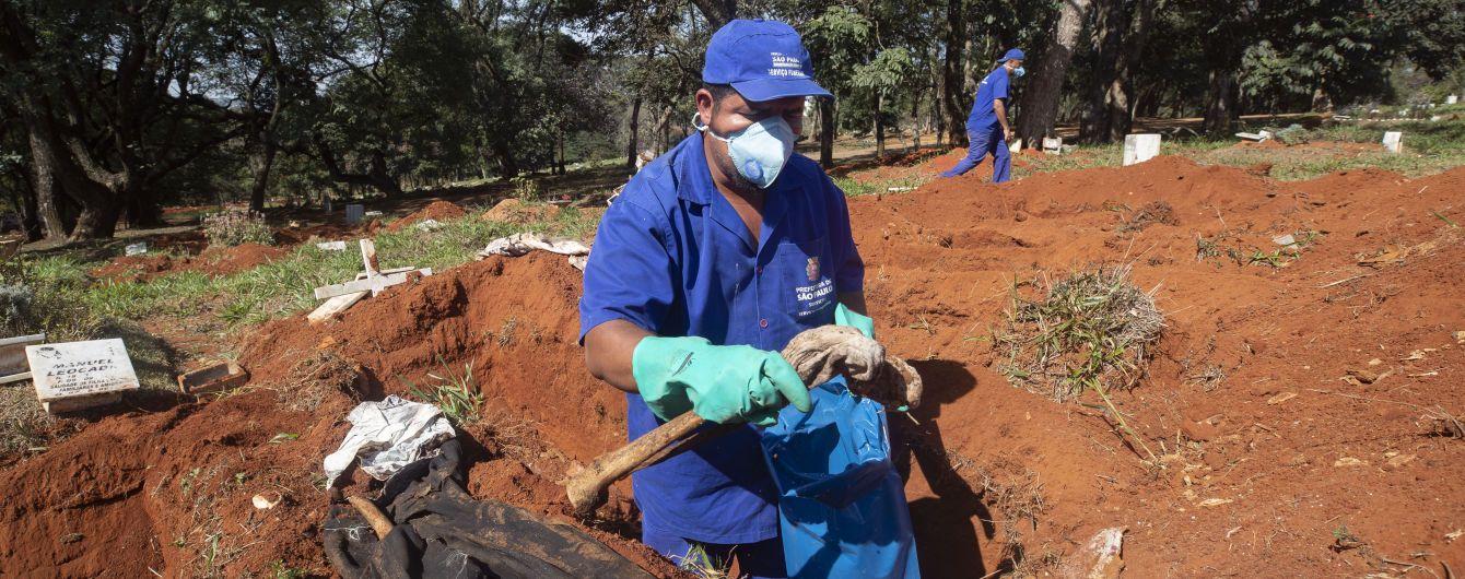 На кладовищах у Бразилії викопують рештки померлих, аби звільнити місця для жертв коронавірусу