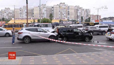 ДТП с 6 автомобилями: в Сети появилось видео масштабной автотрощи в столице