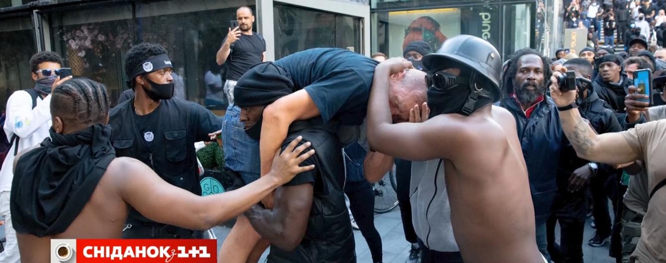 Зламати расові бар'єри: як прихильник Black Lives Matter врятував білого учасника протестів у Лондоні