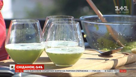 Готуємо холодний суп із зеленого горошку та імбиру з Євгеном Клопотенком