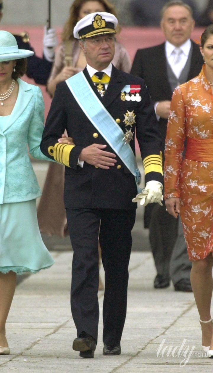 Королева Сильвия, король Карл Густав и кронпринцесса Виктория