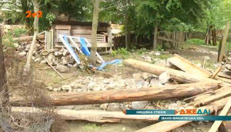 Сокрушительная стихия пронеслась Прикарпатьем: разрушенные дороги, разбитые мосты и затопленые дворы