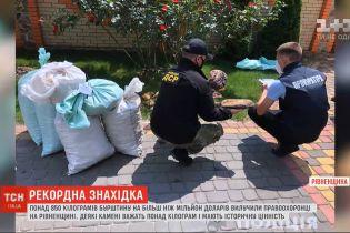 У відрах та мішках: у Рівненській області правоохоронці вилучили понад 850 кілограмів бурштину