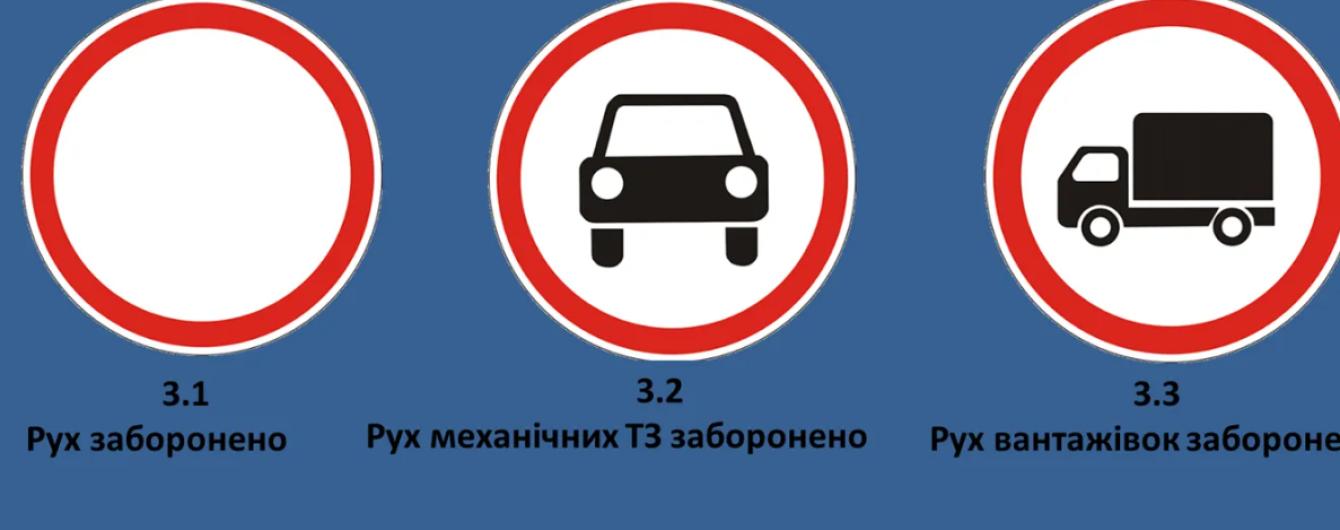 Водіям розповіли, на кого не поширюється дія заборонених знаків