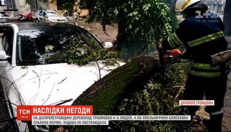 Регіони України потерпають від сильного вітру, дощів та блискавки