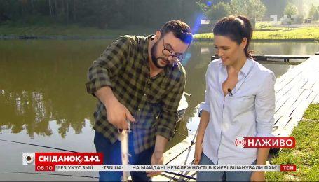 Руслан Сенічкін і Людмила Барбір на риболовлі: кого впіймали ведучі