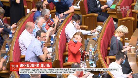Верховная Рада во второй раз не поддержала Программу действий правительства Шмыгаля