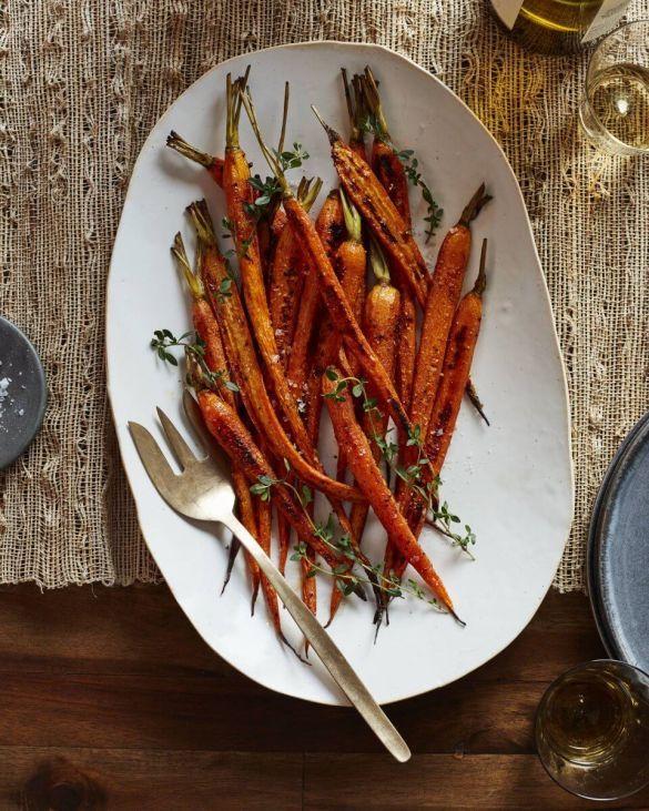 Морковка запеченная в тимьяне